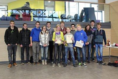 Das P-Seminar mit den stolzen Gewinnern