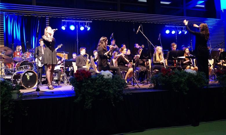 Die Big-Band des Carl-Friedrich-Gau�-Gymnasiums. Foto: Steger