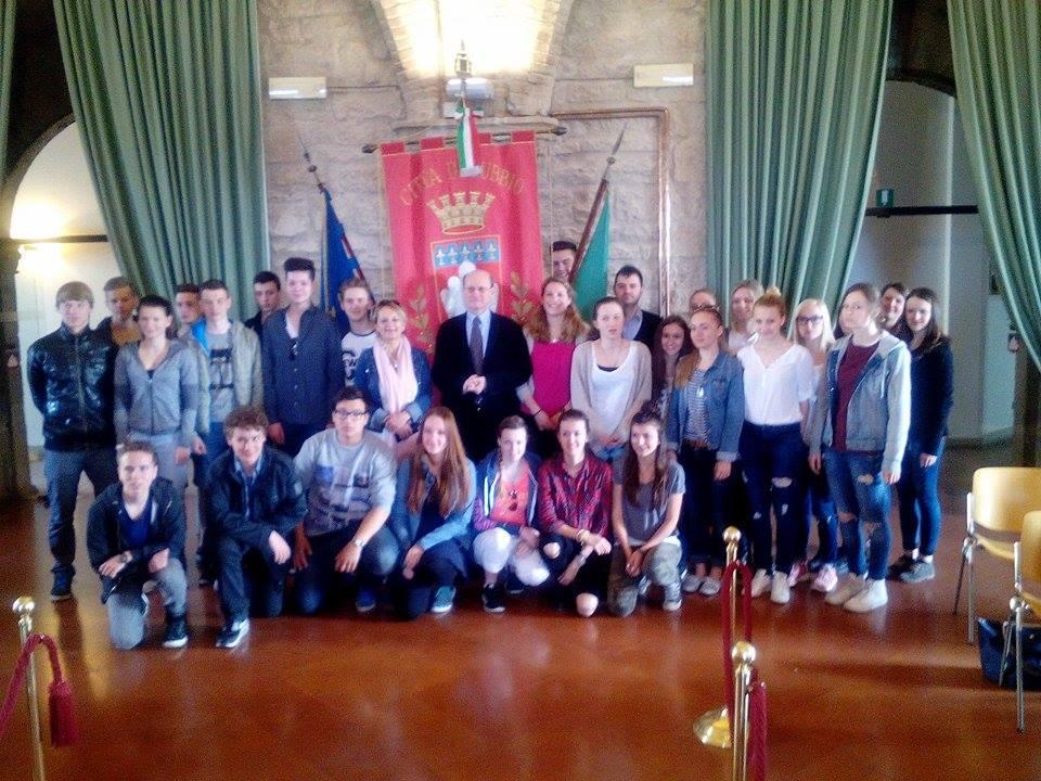 Bild: Empfang in Gubbio (Italienaustausch)