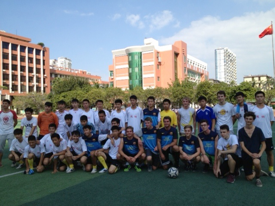 Bild: Gemeinsames Fußballspiel in Xiamen mit deutsch-chinesischen Teams